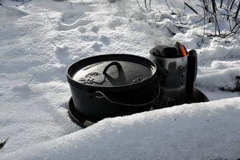 Der Dutch Oven im Winter: Sahne-Hähnchen | Futterattacke.de