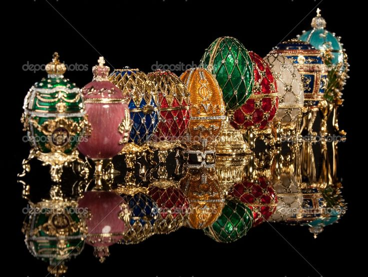 Splendid collection of the Imperial Faberge Eggs.
