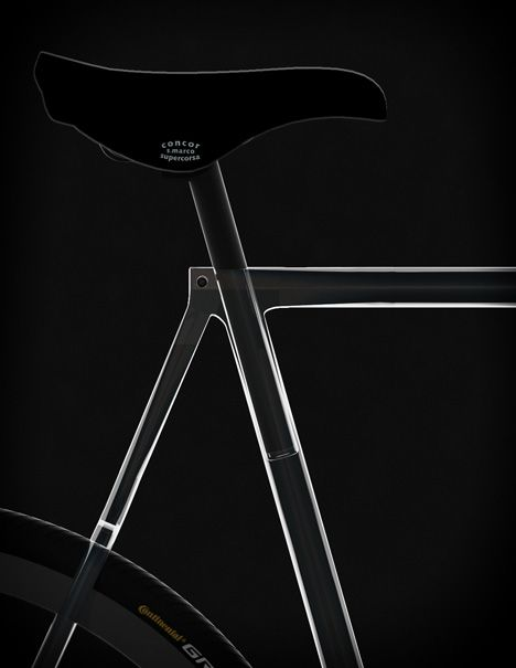 Clarity Bike transparent bicycle by Designaffairs