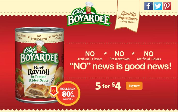 CHEF BOYARDEE ON ROLLBACK AT @walmart  #SAVEONCHEF #CBIAS #AD