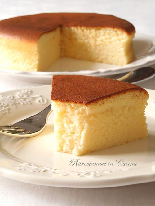 Ritroviamoci in Cucina: Japanese Cotton Cheesecake Have to try sometime.  Looks amazingly delicious!!