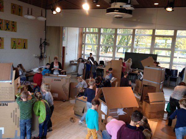 Odaschool | Kinderen vandaag hard gewerkt aan hun eigen huisjes