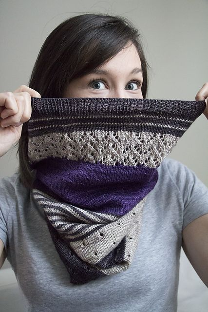 3 Color Cashmere Cowl pattern by Joji Locatelli