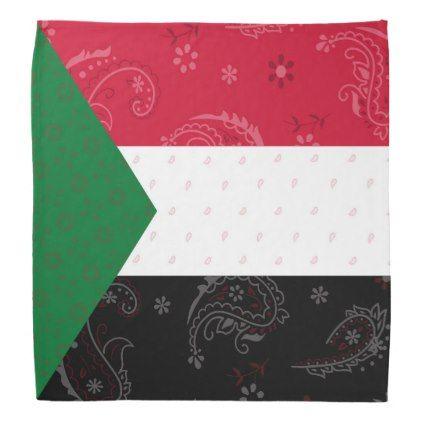 Sudan Flag Bandana - accessories accessory gift idea stylish unique custom