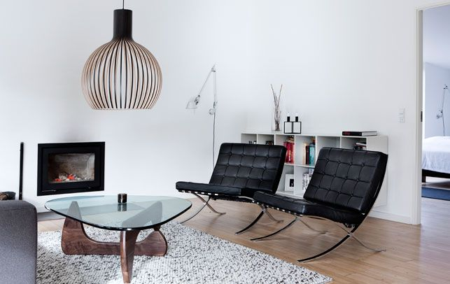 mies van der rohe stole secto lampe artemide v glampe. Black Bedroom Furniture Sets. Home Design Ideas