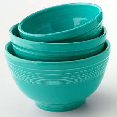 Fiesta Turquoise 3-pc. Baking Bowl Set