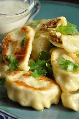 Dumplings with mushrooms / Pierogi z kurkami