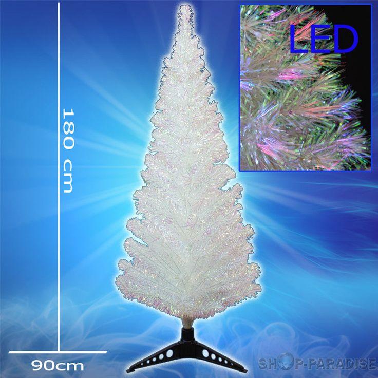 Unique K nstlicher Tannenbaum Weihnachtsbaum weiss Perleffekt LED cm Christbaum