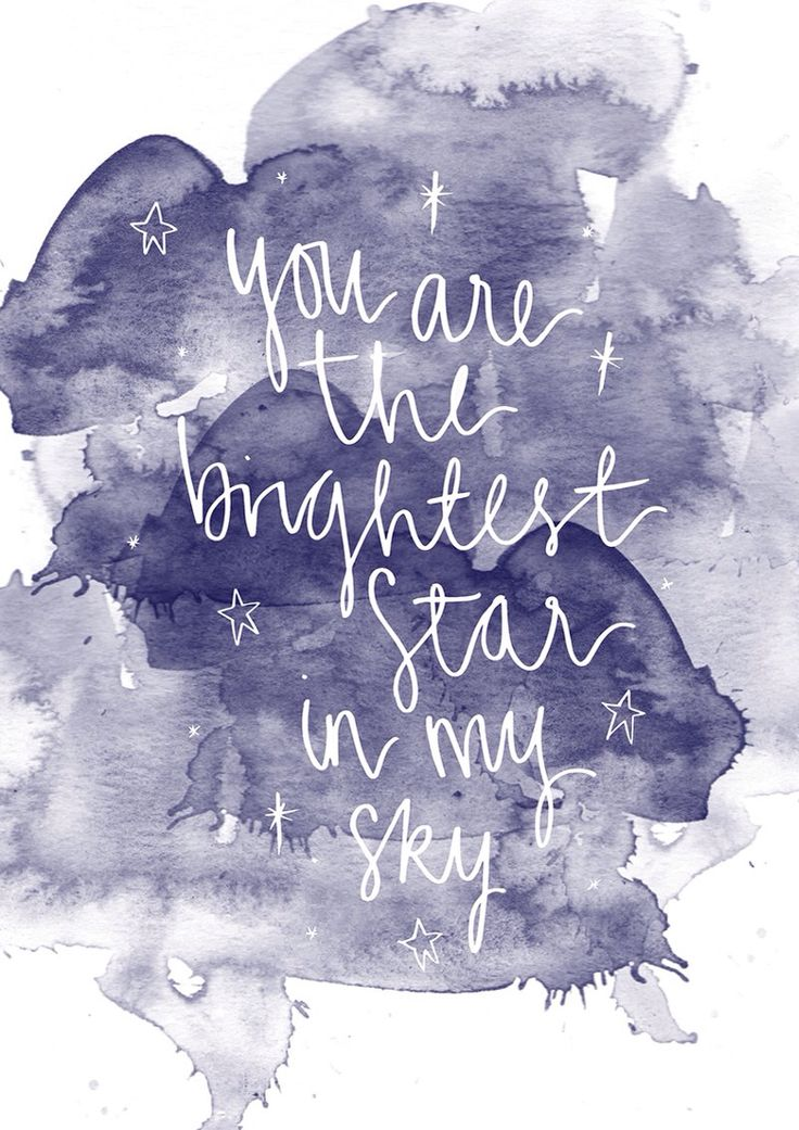 You are the brightest star in my sky // Junk and Glitter