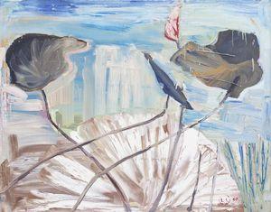 Lootuksia/Oil on canvas 1990 by Leena Luostarinen
