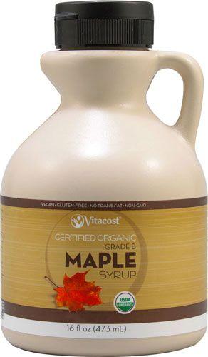 Vitacost Certified Organic Maple Syrup Grade B - Non-GMO