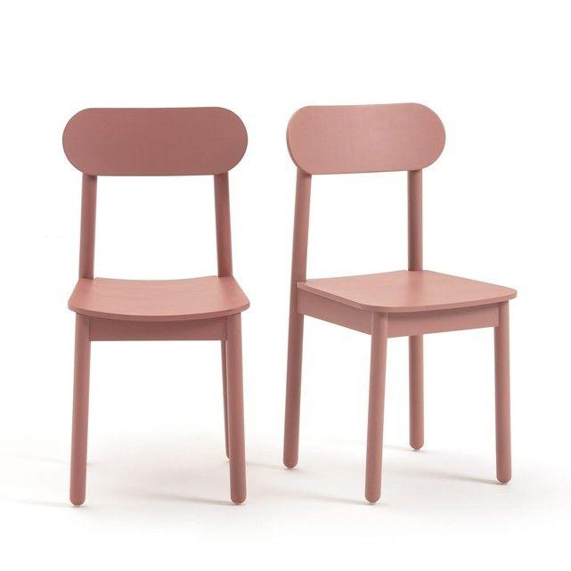 Les 2 chaises Jimi. Un esprit scandinave pour ces chaises Jimi relookées en couleur pastel.Caractéristiques des chaises Jimi :Pieds en hêtre massif naturel ou peint finition vernis nitrocellulosique.Assise et dossier incurvés en multiplis de bouleau replaqué chêne pour la version naturelle ou peint pour les autres coloris, finition vernis nitrocellulosique.Patins plastique.Livrées montées.Retrouvez notre collection Jimi ainsi que toutes nos chaises sur laredoute.frDimensions des chaises Jimi…