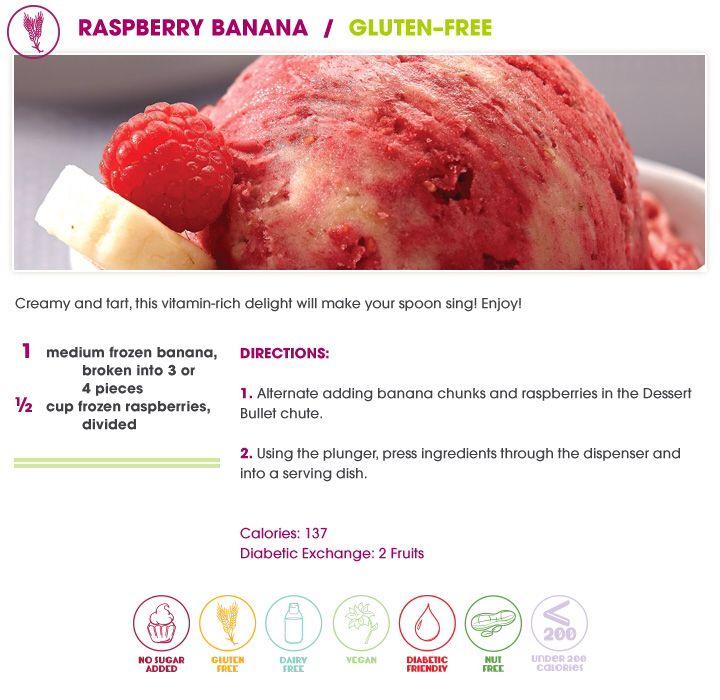 Dessert Bullet recipe - raspberry banana