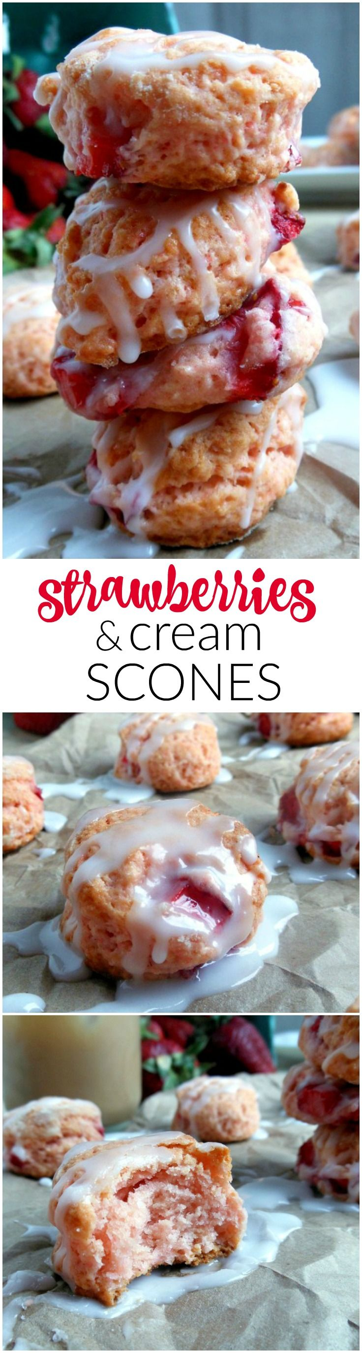 Strawberries and Cream Scones are simple to make and perfect with coffee