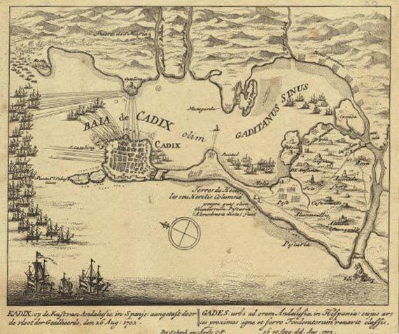 Batalla de Cádiz 1702 - Guerra de Sucesión Española - Wikipedia, la enciclopedia libre