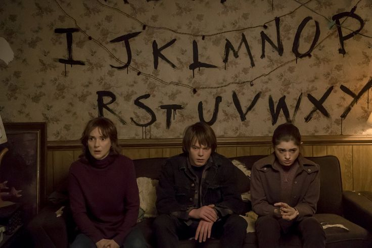 Winona Ryder, Natalia Dyer, and Charlie Heaton in Stranger Things (2016)