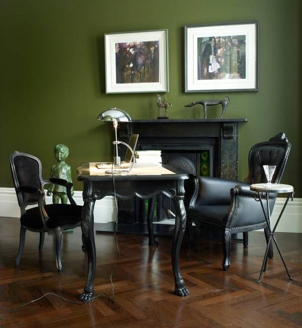 Зеленый интерьер в модном цвете кудрявой капусты