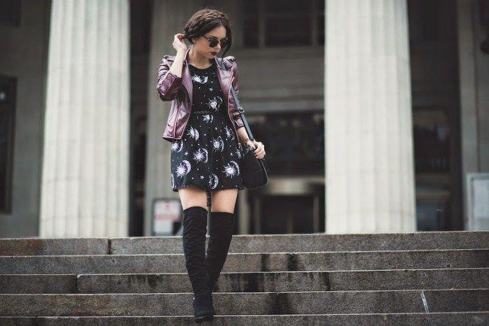 Summer dress and otk boots