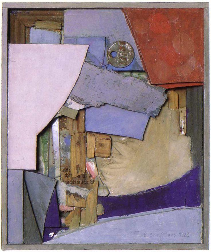 Kurt Schwitters, Relief, 1923, Pompidou. L'objet comme constituant de l'oeuvre en 2D