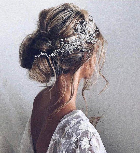 Wedding Hair Accessories Bridal Hair Vine Bridal Hair Clip Wedding Headpiece Wedding Hair Piece Brid In 2020 Gold Wedding Hair Piece Wedding Hair Pieces Hair Styles