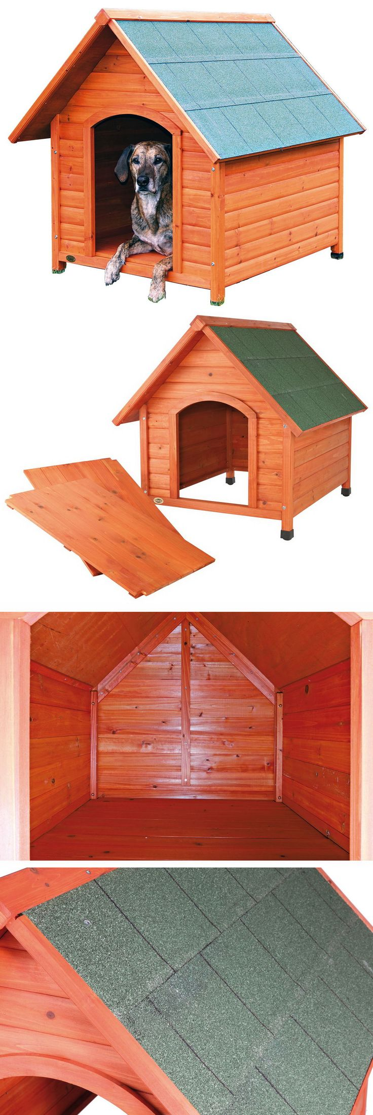 Dog Houses 108884: New Xl Wood Dog House Wooden Extra Large Breed Doghouse Raised Floor Waterproof -> BUY IT NOW ONLY: $159.89 on eBay!