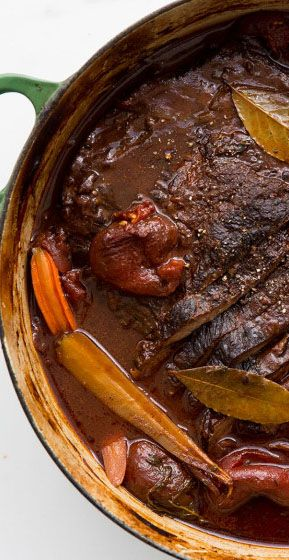 Red wine braised brisket: Quite possibly the best Sunday supper recipe ever.