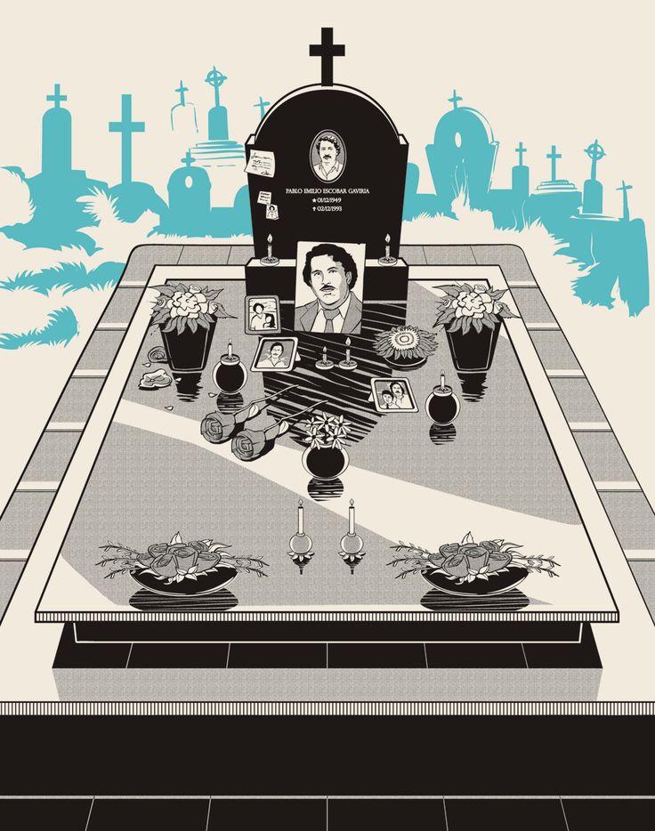 Ilustraciones biográficas de Pablo Escobar | No me toques las Helvéticas | Blog sobre diseño gráfico y publicidad