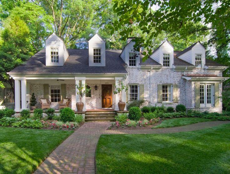 White Limewashed Brick Homes
