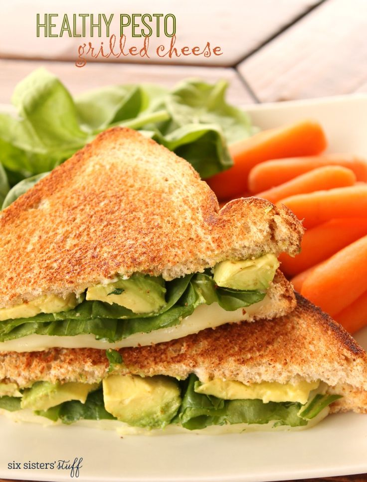 Healthy Pesto Grilled Cheese on SixSistersStuff.com