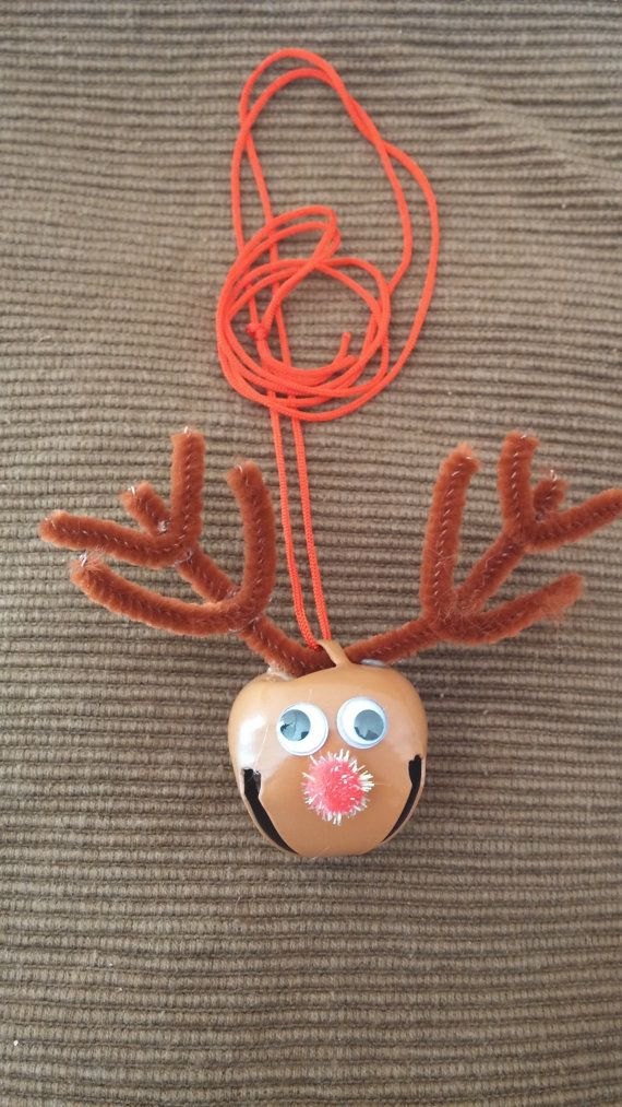 Rudolph Red Nosed Reindeer Jingle Bell Necklace by JJsJuicebox