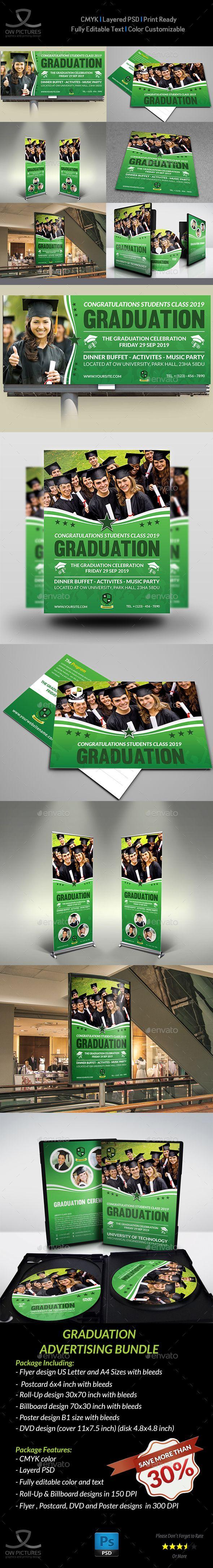 Poster design description - Graduation Advertising Bundle