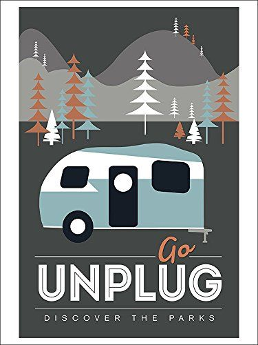 Go Unplug Camper Discover The Parks Playing Card Deck. Because playing card games is a favorite camping activity, we think it's way more fun to use a deck that fits the occasion. Check these out! This cute vintage trailer image on these Go Unplug Camper Discover The Parks Playing Card Deck contains a 52-card poker size deck with Jokers. They are printed on heavy stock paper too!
