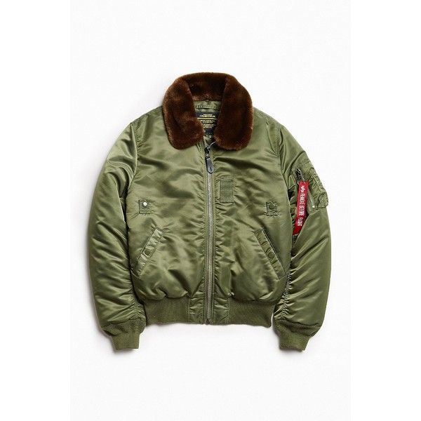 Alpha Industries B-15 Slim-Fit Bomber Jacket ($149) ❤ liked on Polyvore featuring men's fashion, men's clothing, men's outerwear, men's jackets, mens insulated jackets, mens lightweight bomber jacket, mens short sleeve jacket, mens light weight jackets and american eagle mens jackets