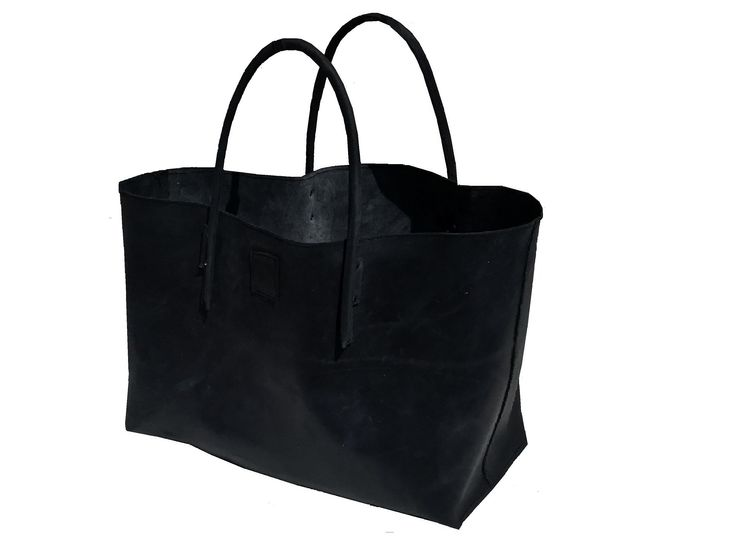 XXL leather shopping bag shopper extra large leather bag semi-rigist weekender used look handmade
