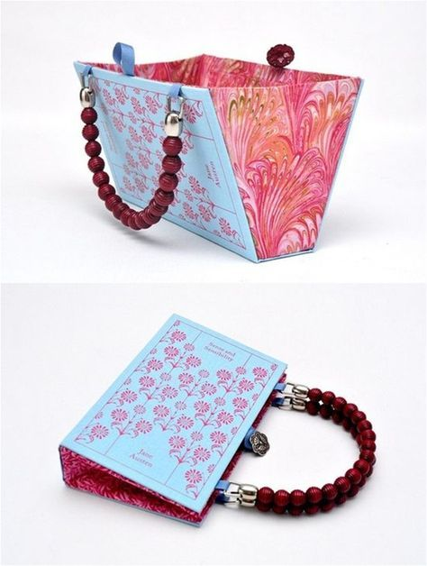 DIY book cover clutch and bag - The perfect