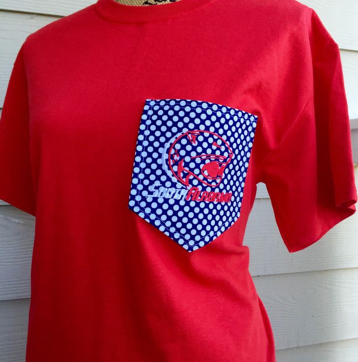 custom university of south alabama pocket t shirt by southernstitches956 on etsy https www. Black Bedroom Furniture Sets. Home Design Ideas