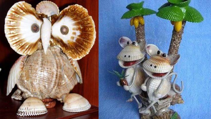 Поделки из ракушек.Crafts from shells.