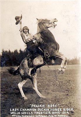Prairie Rose at Walla Walla, Washington Frontier Days, 1914.