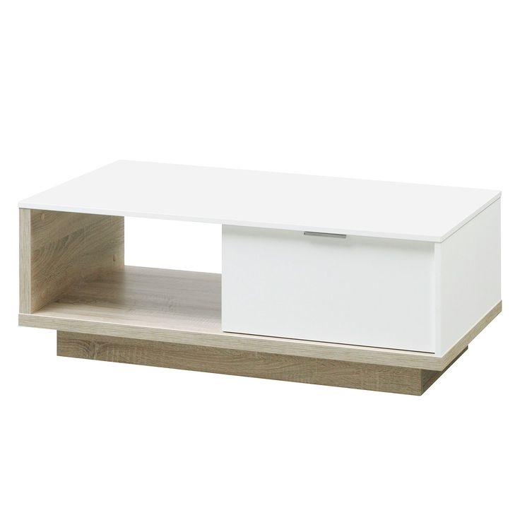 Couchtisch My Ell - Weiß / Eiche Dekor, Cs Schmal Jetzt bestellen unter: https://moebel.ladendirekt.de/wohnzimmer/tische/couchtische/?uid=356791bf-50be-5b2e-ba1c-b9f99085bf75&utm_source=pinterest&utm_medium=pin&utm_campaign=boards #möbel #schmal #beistelltische #couch #wohnzimmer #couchtische #tische