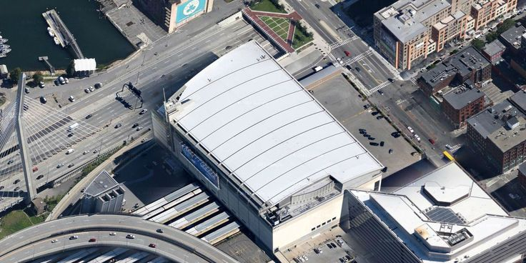 TD Garden - Boston Celtics - Aerial Views of NBA Arenas