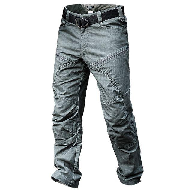 Del Otoño Del resorte de Los Hombres Al Aire Libre Caza Senderismo Impermeable de Secado rápido Pantalones Largos Masculinos Delgada Ejército Entrenamiento Táctico de Carga General Pantalones