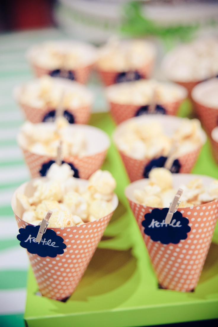 #popcorncones  - you could put anything you wish in the cones - candy, snack mix, etc.