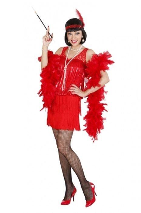 Strój Karnawałowy dla kobiety Flapper w kolorze czerwonym.