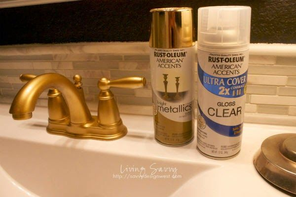 How To | Spray Paint A Bathroom Faucet | from Living Savvy