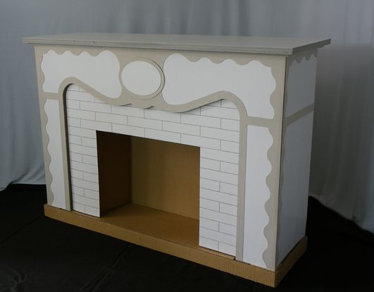 cardboard fireplace - Buscar con Google                                                                                                                                                                                 More