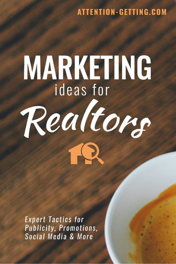 Creative Real Estate Marketing Ideas and Tips for Realtors -- Ebook by Attention Getting Marketing Realtor Marketing #marketing #realestate #realtor