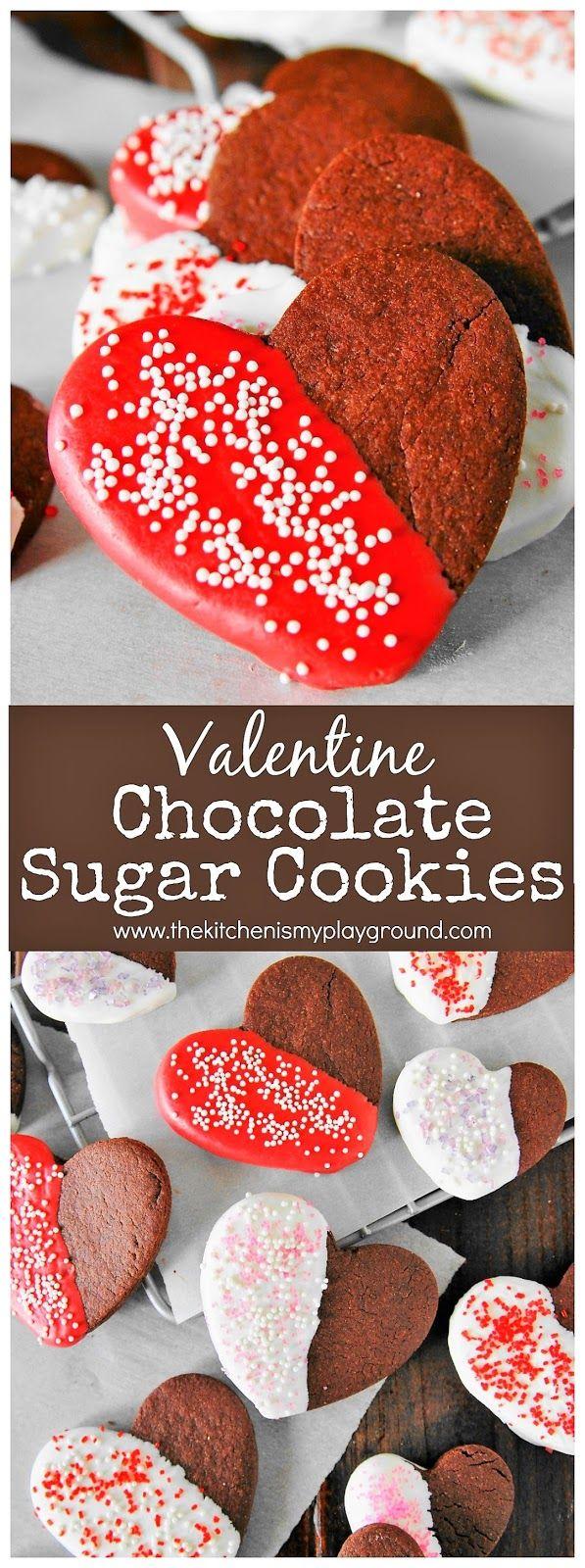 Heart Shaped Valentine Chocolate Sugar Cookies Image