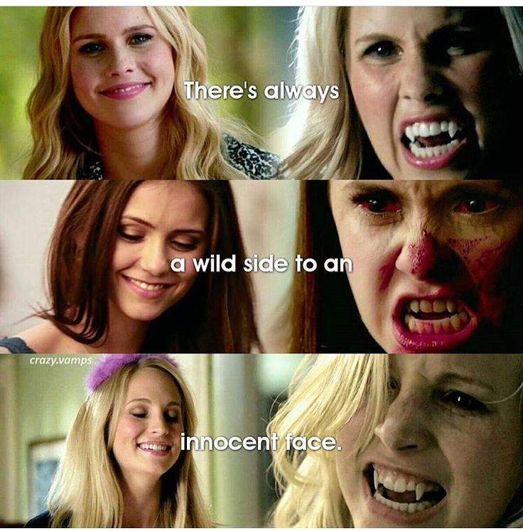 """#TVD The Vampire Diaries Rebekah,Elena & Caroline """"There's always a wild side to an innocent face."""""""
