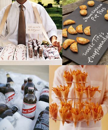 Wolf Trap Special Events loves these baseball themed wedding snacks