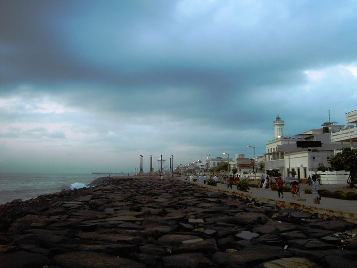Awaiting the storm, Pondicherry, India
